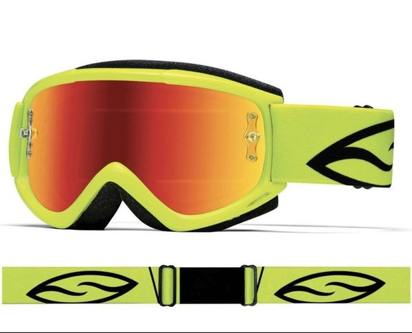 SMITH Fuel V1 Max M Motocross Brille 2019 Acid Red mirrored
