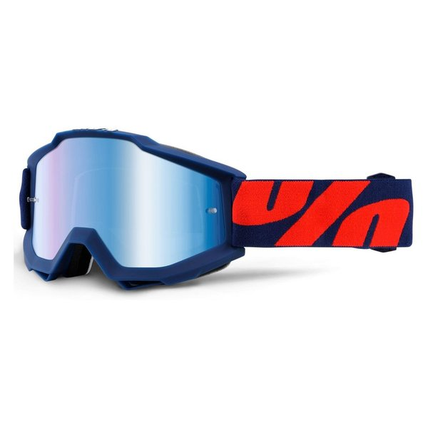 100% Motocross Brille Accuri Raleigh Blue Mirrored