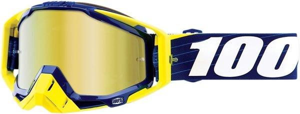 100% Motocross Brille Racecraft Bibal Navy Mirrored