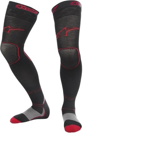 Alpinestars Kneebrace Socken Long Tech MX Thick Red/Black
