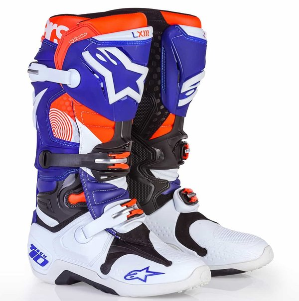 Alpinestars Tech 10 Indianapolis Limited Edition Dark Blue/Fluo