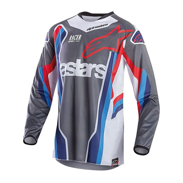 Alpinestars Racer 6 Jersey Bomber Limited Edition Anthracite Aqua Red White