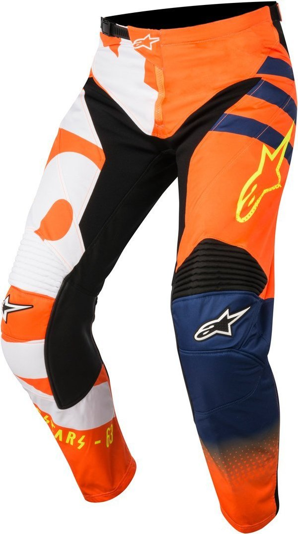 Alpinestars Braap Hose Orange Fluo Dark Blue White