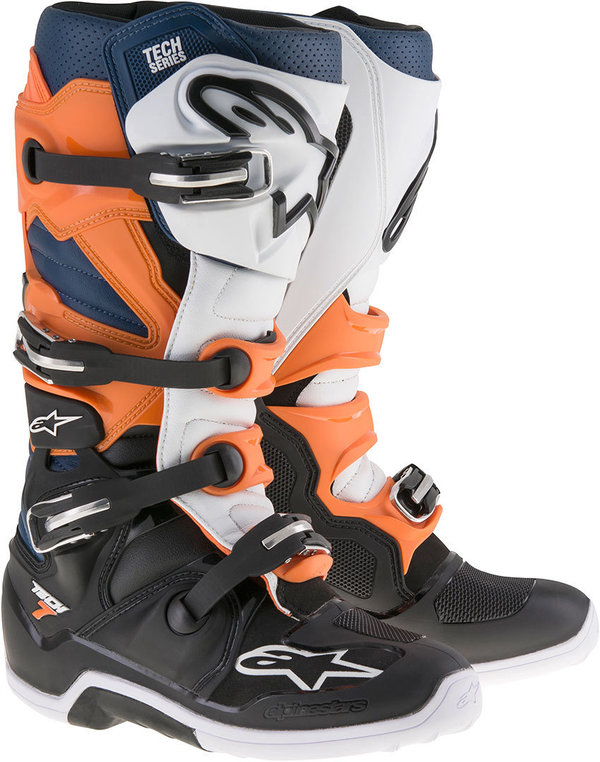 Alpinestars Tech 7 Black/Orange/White/Blue