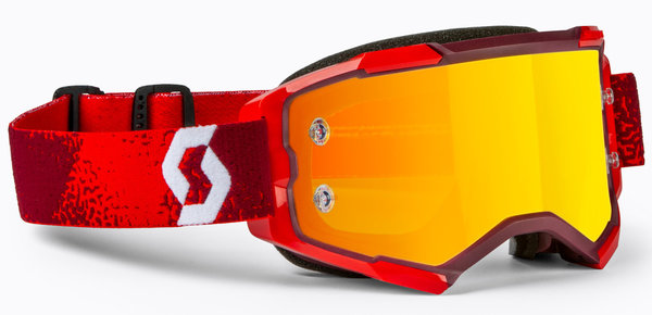 Scott Fury MX Brille Red/Orange Chrome Works