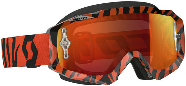 Scott Hustle MX Brille Black Fluo Orange