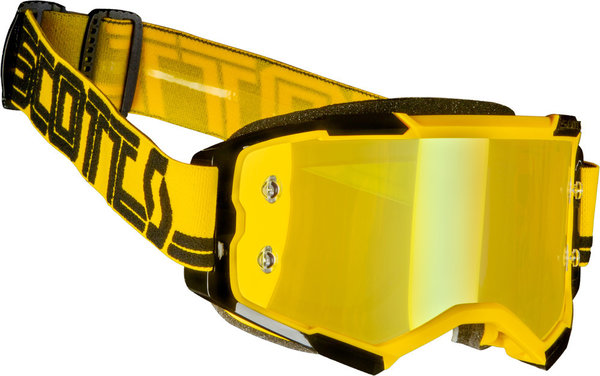 Scott Fury MX Brille Yellow/Black Yellow Chrome Works
