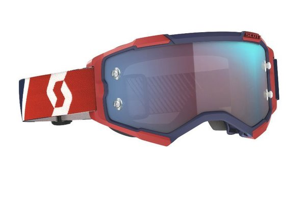 Scott Fury MX Brille Red/Blue Blue Chrome Works