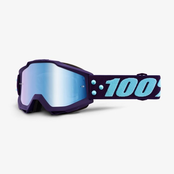 100% Motocross Brille Accuri Maneuver Blue Mirrored