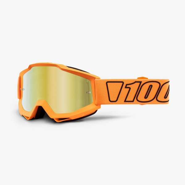 100 Motocross Brille Accuri Luminari Gold Mirrored Enduro4you
