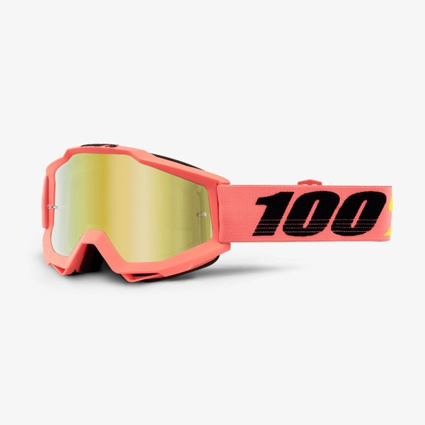 100% Motocross Brille Accuri Rogen Gold Mirrored