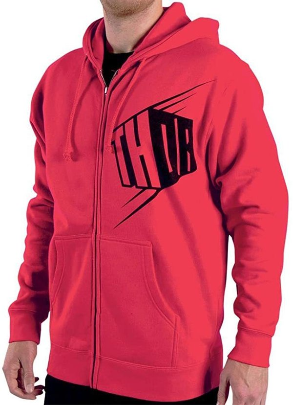 Thor Fleece Hoody Block Red