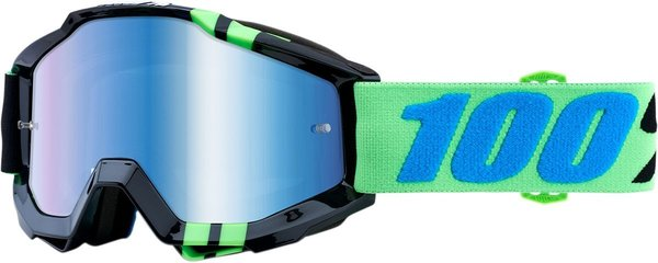 100% Motocross Brille Accuri Zerg Blue Mirrored