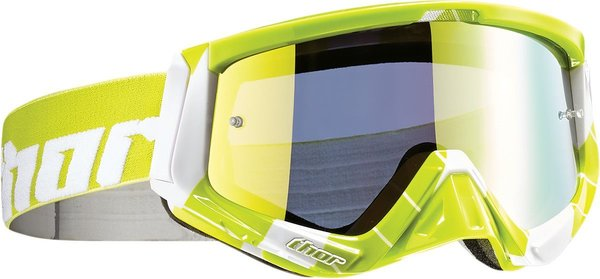 Thor Sniper Chase Lime White Motorcrossbrille