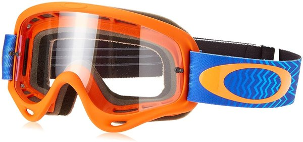 Oakley O-Frame Shockwave Orange Blue Clear Motocrossbrille