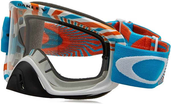 Oakley O2 RPM Orange Blue Clear Motocrossbrille