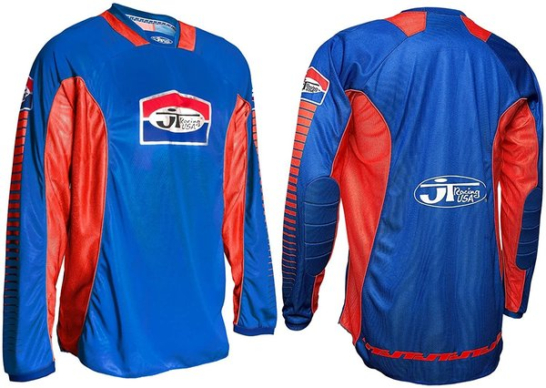 JT Racing Pro Tour Jersey Blue Red Fahrerhemd