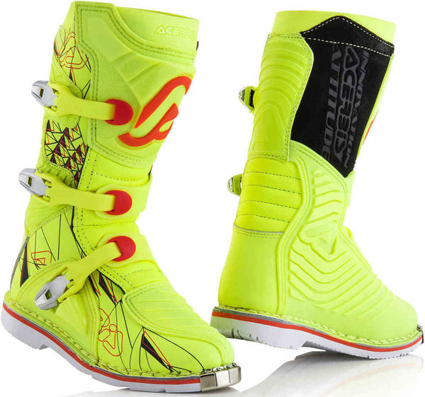 Acerbis Shark Junior Kinderstiefel Yellow Fluo