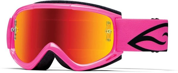 SMITH Fuel V1 Max M Motocross Brille Pink Red mirrored