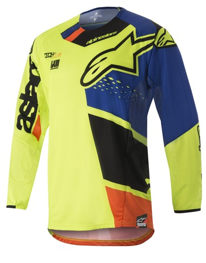 Alpinestars Techstar Factory Jersey Neon Yellow Blue Red