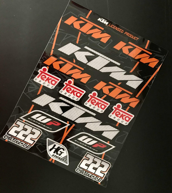 HG Stickers Factory Kit KTM 222 Stickerbogen